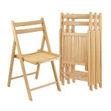 Robin 4-pc folding chair set natural