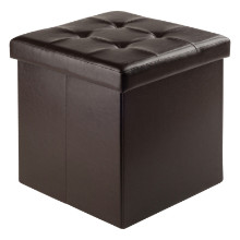 Ashford Ottoman with Storage Faux Leather