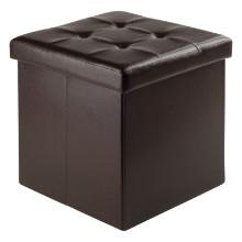 92415 Ashford Square Storage Ottoman, Espresso