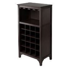 92729 Ancona Modular Wine Cabinet with Glass Rack & 20-Bottle