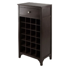 Ancona Modular Wine Cabinet with One Drawer & 24-Bottle