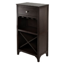 92745 Ancona Modular Wine Cabinet with One Drawer, Glass Rack, X Shelf