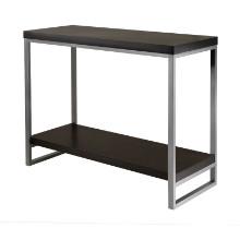 Jared console table, enamel steel tube