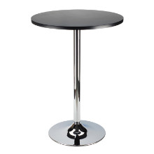 "93624 Spectrum 24"" Round Pub Table, Black & Chrome"