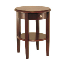 94217 Concord Round End Table with Drawer and Shelf