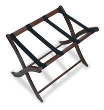 94420 Scarlett Luggage Rack, Walnut