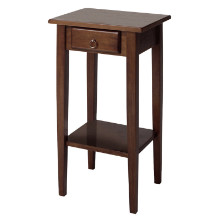 Regalia accent table with drawer, shelf