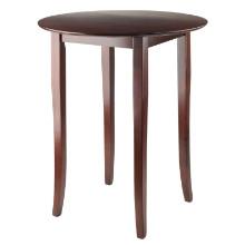 Fiona round high/pub table