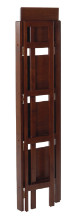 94852 Terry Folding Bookcase Antique Walnut