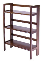 Terry Folding Bookcase Walnut