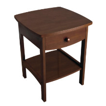 94918 Claire Curved Nightstand, Walnut