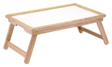 98821 Stockton Breakfast Bed Tray, Natural and White