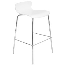 Woodstacker Stackable Contemporary Barstool - Set Of 2 in White