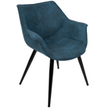 Wrangler Contemporary Accent Chair in Blue - Set of 2