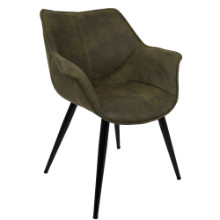 Wrangler Contemporary Accent Chair in Green - Set of 2