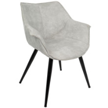 Wrangler Contemporary Accent Chair in Light Grey - Set of 2