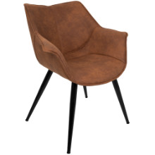 Wrangler Contemporary Accent Mid-century Modern Chair in Rust - Set of 2
