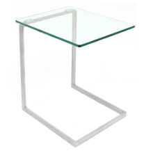 Zenn Glass End Contemporary Table in Glass