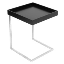 Lumisource TB-ZENNKD-TR-BK Zenn Tray End Contemporary Table with Removable Tray in Black