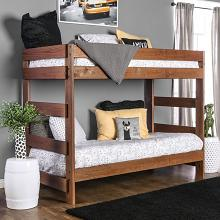AM-BK100 Arlette rustic wood finish twin over twin bunk bed with solid pine construction