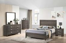 5 pc House of hampton smedley anastasia light brown finish wood queen bed set