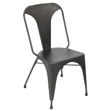 Austin Industrial Dining Chair - Set Of 2 in Matte Grey