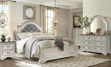Mc Ferran B738 5 pc One allium way kiro antique white finish wood queen bedroom set