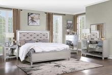 Acme BD00239Q-4PC 4 pc One allium way sliverfluff champagne finish wood bedroom set