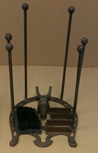 Cast iron horse head foot brush