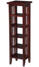 Asia Direct 5418-CH Cherry finish wood dvd media rack stand