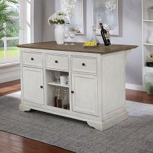 CM-AC566A Canora grey grena scobey antique white and oak finish wood kitchen island