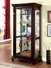 CM-CR134 Astoria grand ansel tulare dark cherry finish wood sliding front door storage curio cabinet