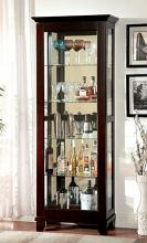 CM-CR135 Darby home co gallaher ludden dark walnut finish wood sliding front door storage curio cabinet