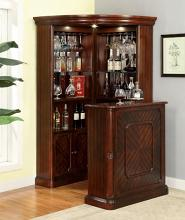 CM-CR142-142BT Voltaire dark cherry finish wood bar table and curio cabinet