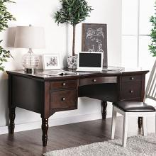 CM-DK5055 Lewis dark walnut finish wood transitional style writing desk