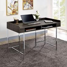 CM-DK5241 Alvin modern industrial stye espresso finish wood top and chrome metal frame desk