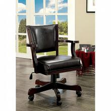 CM-GM340CH-AC Darby home co berthold cherry finish wood man cave poker swivel arm chair