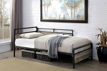CM1220 Latitude run vidar sand black metal pipe design industrial twin daybed