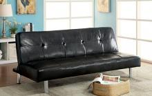 CM2672 Latitude run merano eddi black leatherette futon sofa bed
