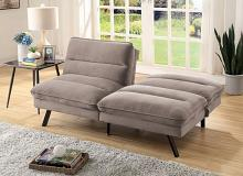 CM2819 Kierra gray flannelette fabric double folding back futon sofa bed