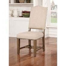 CM3014SC-2PK Set of 2 Julia rustic natural tone finish wood side chairs