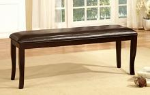 CM3024BN Woodside two tone espresso finish wood dining bench