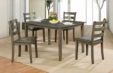 CM3028T-5PK 5 pc Marcelle gray finish wood dining table set