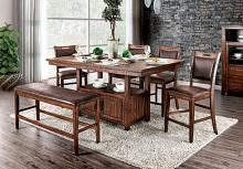 CM3061PT-6PC 6 pc Wichita light walnut finish wood counter height dining table set
