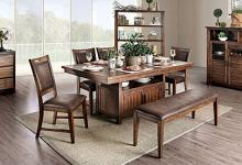 CM3061T-6PC 6 pc Wichita light walnut finish wood dining table set