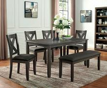 CM3153GY-T-6PC 6 pc Canora grey mel cilgerran I gray finish wood dining table set