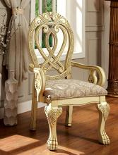 CM3186WH-AC Set of 2 Wyndmere antique white finish wood elegant formal style arm chairs