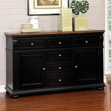 CM3199BC-SV Sabrina country style two tone cherry black finish wood server sideboard cabinet