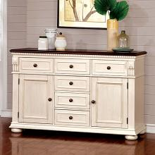 CM3199WC-SV Sabrina country style two tone cherry antique white finish wood server sideboard cabinet