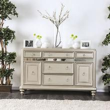 Furniture of america CM3239-SV Xandra champagne finish wood dining sideboard server console table